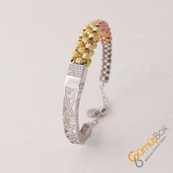 Dorika Modeli Gümüş Bayan Bileklik - Thumbnail