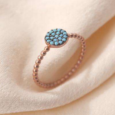 Firuze Taşlı Gümüş Eklem Yüzüğü