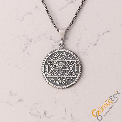 Mührü Süleyman Gümüş Kolye